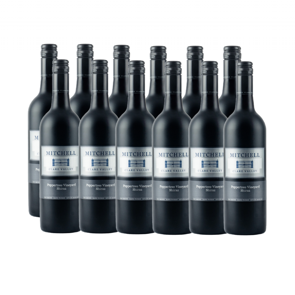 MITCHELL PEPPERTREE SHIRAZ 750ML (12 BOTTLES)