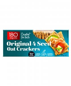 ORIGINAL 4 SEED OAT CRACKERS 135GM/BOX - 180 DEGREES
