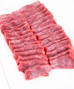 FROZEN BEEF STRIPLOIN SLICED 2MM  1KG/PKT
