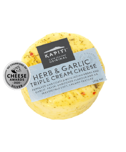 KAPITI HERB & GARLIC TRIPLE CREAM CHEESE 125GM