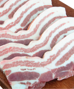 FROZEN PORK BELLY SLICED 3MM  1KG/PKT