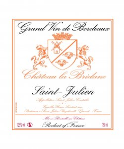 CH. LA BRIDANE SAINT JULIEN 750ML VINTAGE 2015 ( 6BTLS / CTN )