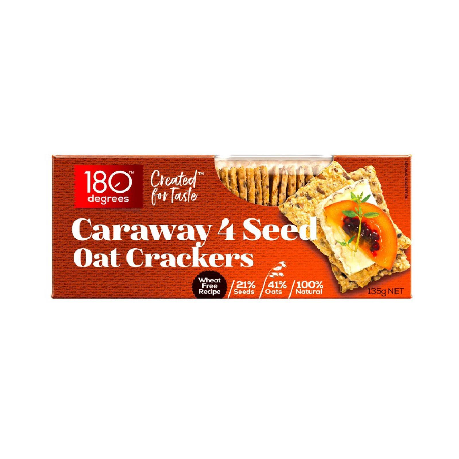 180 Degree Caraway 4 Seed Oat Crackers 135gm