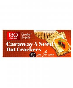 CARAWAY 4 SEED OAT CRACKERS 135GM/BOX - 180 DEGREES