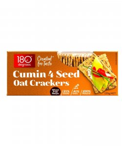 CUMIN 4 SEED OAT CRACKERS 135GM/BOX - 180 DEGREES