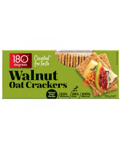 180 Degree Walnut Oat Crackers