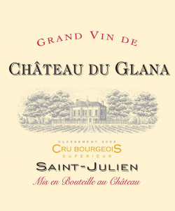 CH. DU GLANA SAINT JULIEN 750ML  VINTAGE 2017 ( 6BTLS / WOODEN CASE )
