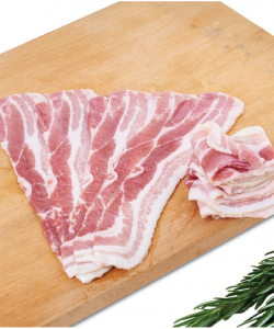 FROZEN STREAKY BACON PRE-SLICED 1KG/PKT