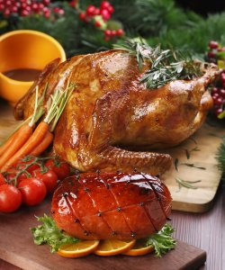 Traditional Christmas Turkey & Champagne Ham Set (PRE-ORDER) With Complimentary Cava