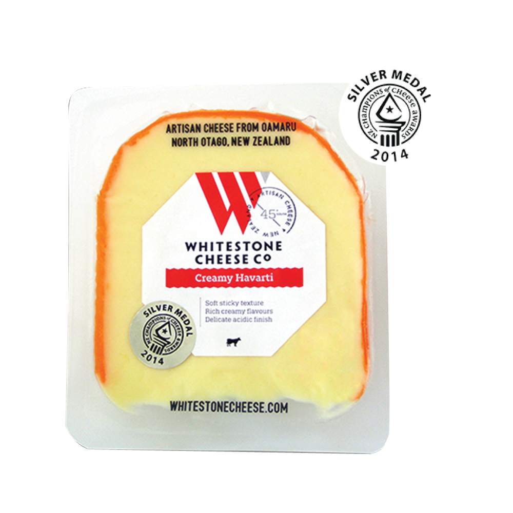 CREAMY HAVARTI WEDGES 110GM - WHITESTONE