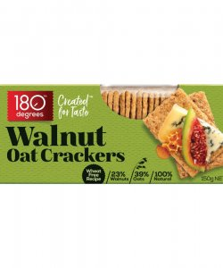 WALNUT OAT CRACKERS 150GM/BOX - 180 DEGREES