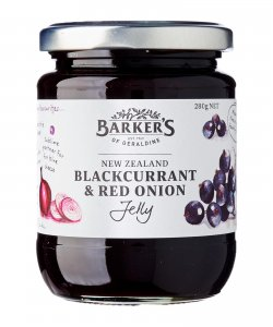 BARKER'S OF GERALDINE BLACKCURRANT & RED ONION JELLY 280GM/BTL