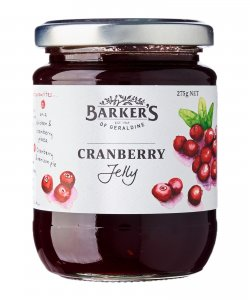 BARKER'S OF GERALDINE CRANBERRY JELLY 275GM/BTL