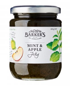 BARKER'S OF GERALDINE MINT & APPLE JELLY 280GM/BTL