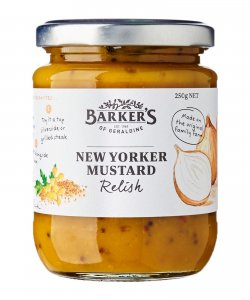 BARKER'S OF GERALDINE NEW YORKER MUSTARD RELISH 250GM/BTL