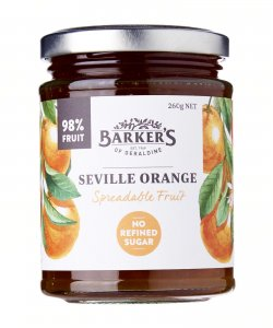 BARKER'S OF GERALDINE SEVILLE ORANGE SPREAD FRUIT 260GM/BTL