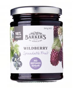 BARKER'S OF GERALDINE WILDBERRY SPREADABLE FRUIT 260GM