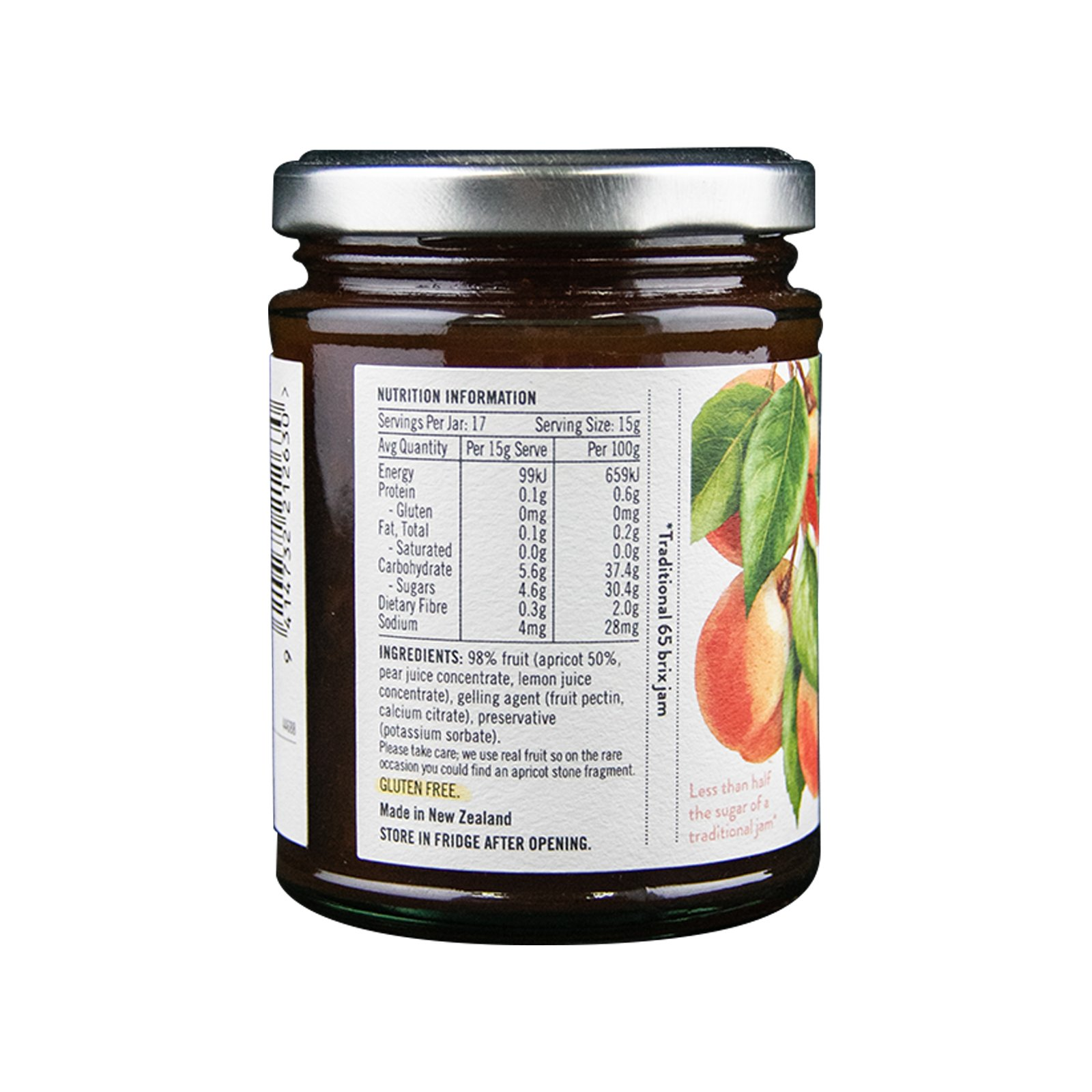 BARKER'S OF GERALDINE APRICOT SPREADABLE FRUIT 260GM/BTL