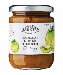 BARKER'S OF GERALDINE NZ GREEN TOMATO CHUTNEY 275GM/BTL