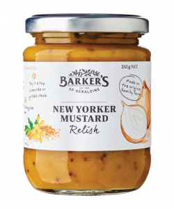 Barker's Of Geraldine New Yorker Mustard Relish