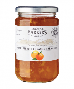 BARKER'S OF GERALDINE NZ GRAPEFRUIT & ORANGE MARMALADE 370GM