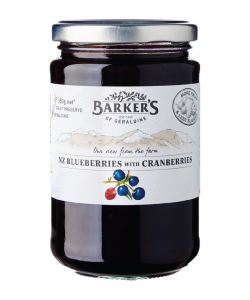 BARKER'S OF GERALDINE NZ BLUEBERRIES WITH CRANBERRIES 350GM/BTL