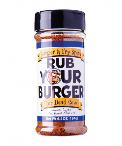 "Old World Spice & Seasonings —"" Rub Your Burger"""