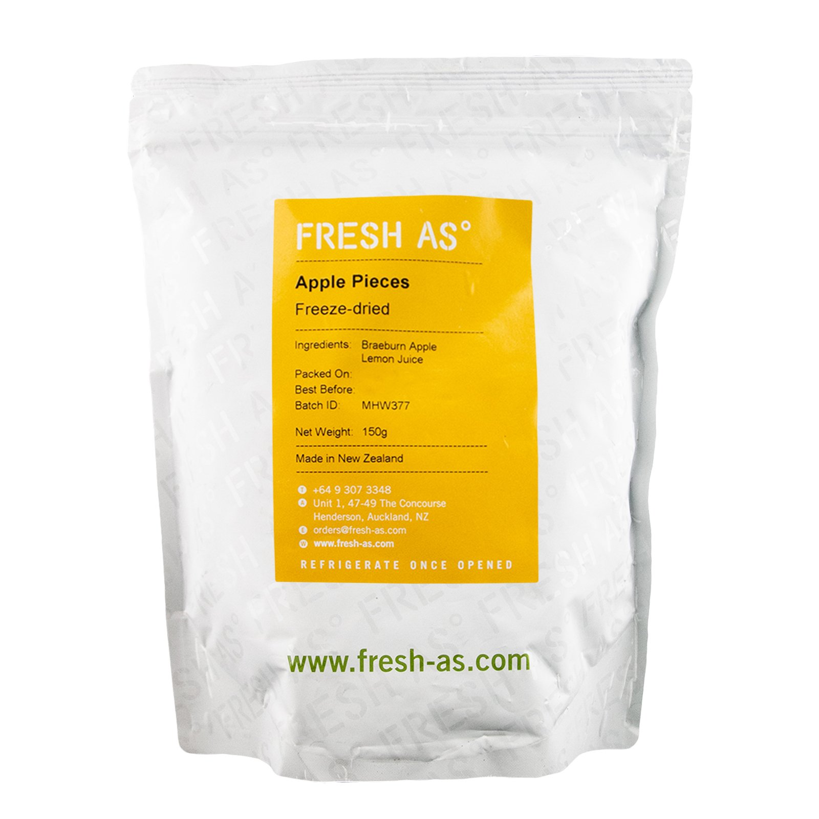 FRESH AS APPLE PIECES 150GM