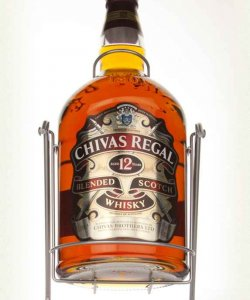 CHIVAS REGAL 12 YEAR  AND CRADLE  (NO BOX ) 4.5LTR 40% ALC