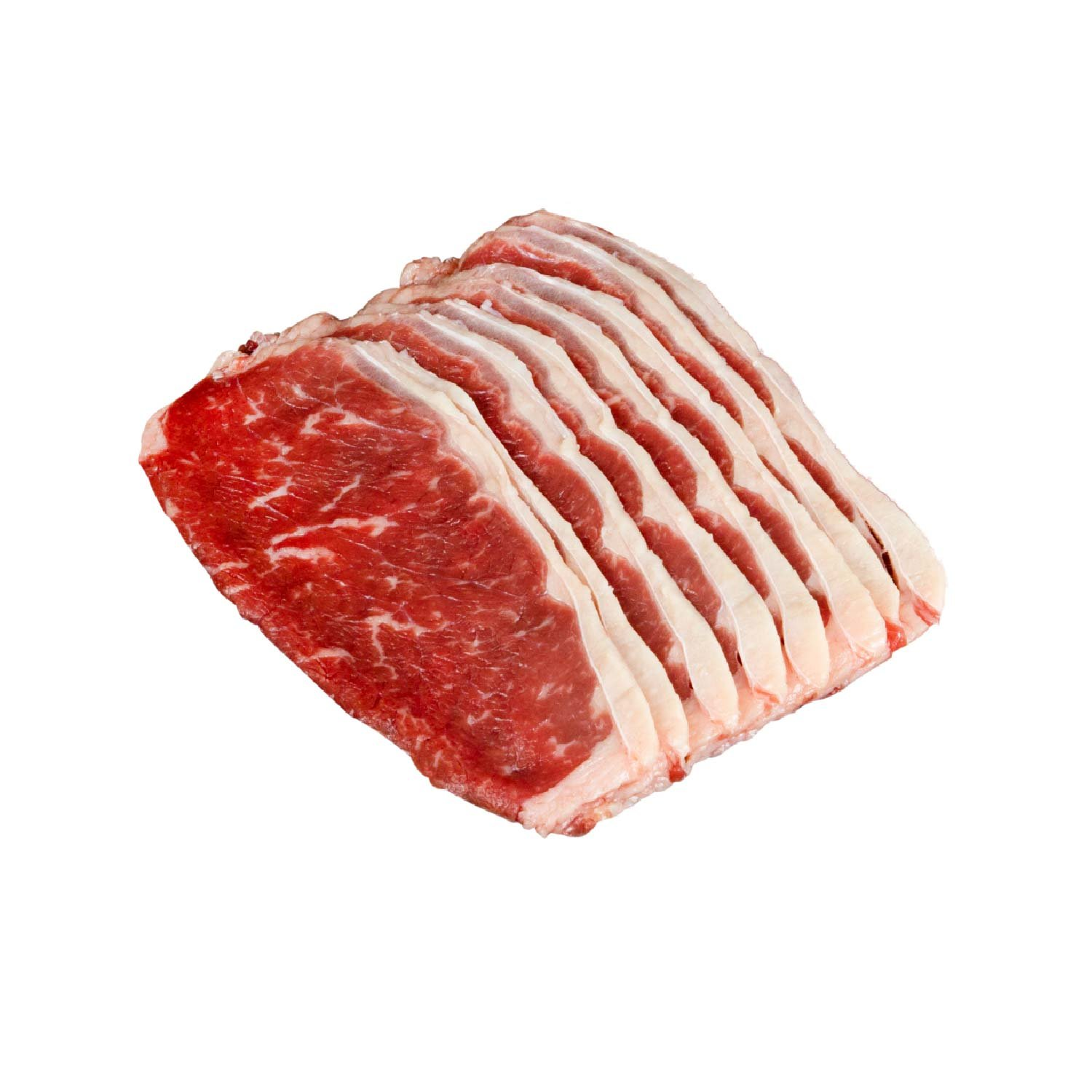 FROZEN BEEF STRIPLOIN SLICED 2MM  500GM/PKT